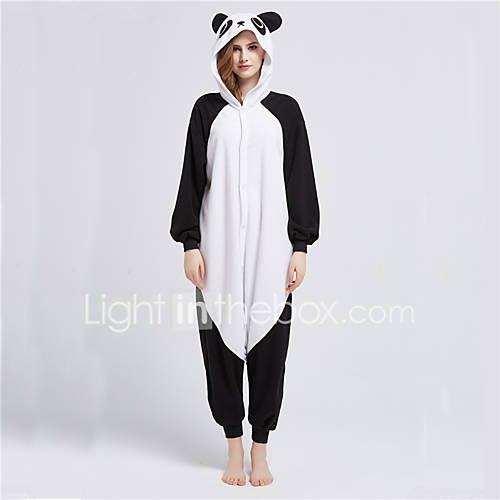 Kigurumi Pijamas Oso Panda Leotardo/Pijama Mono Festival/Celebración Ropa de Noche de los Animales Halloween Negro / blanco RetazosLana 2366286 2017 – $80.096