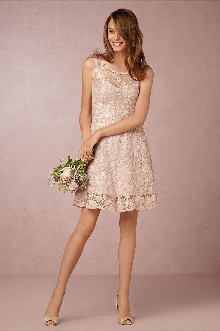metallic, short, lace bridesmaid dress   Piper Dress by Yoana Barachi for BHLDN