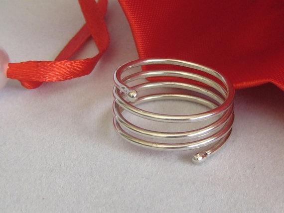 #Sterling #Silver Spiral #Ring by ZaZing on Etsy, $30.00 www.zazing.co.nz
