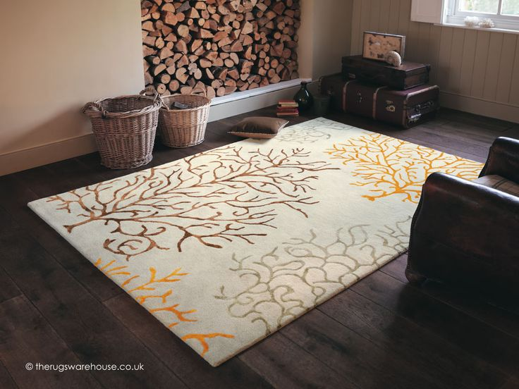 Coral Amber Rug (Sanderson), a subtle wool rug inspired by the marine flora (100% wool, hand-tufted, 3 sizes) http://www.therugswarehouse.co.uk/modern-rugs3/sanderson-rugs/coral-amber-rug.html
