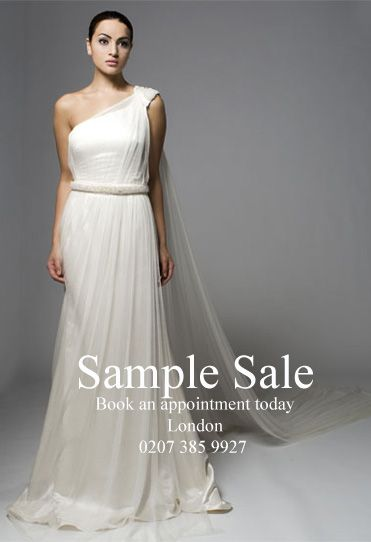 Bridal Sample Sale - discounted sample wedding dresses in London by Sanyukta Shrestha