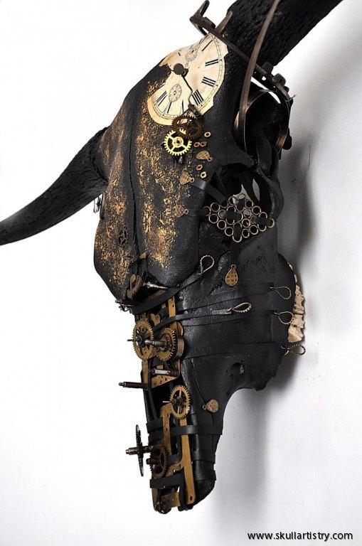 Hand Painted / REAL Animal Skull / by SkullsAndBonesSweden on Etsy