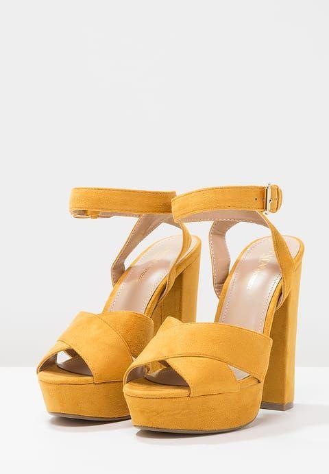 Tata Italia Sandaler med høye hæler - yellow - Zalando.no
