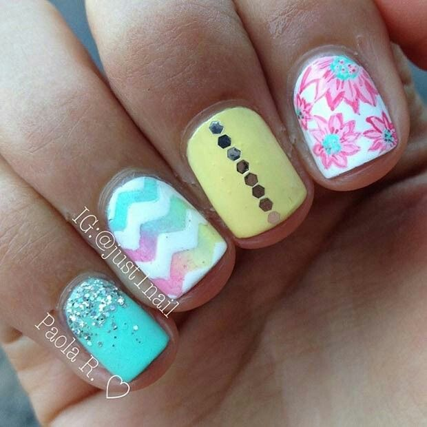 125 best summer art for nails images on pinterest nail ideas as the weather heats up drinks become colder clothes become skimpier and nail designs become more and more brighter this time of the year is all about prinsesfo Gallery