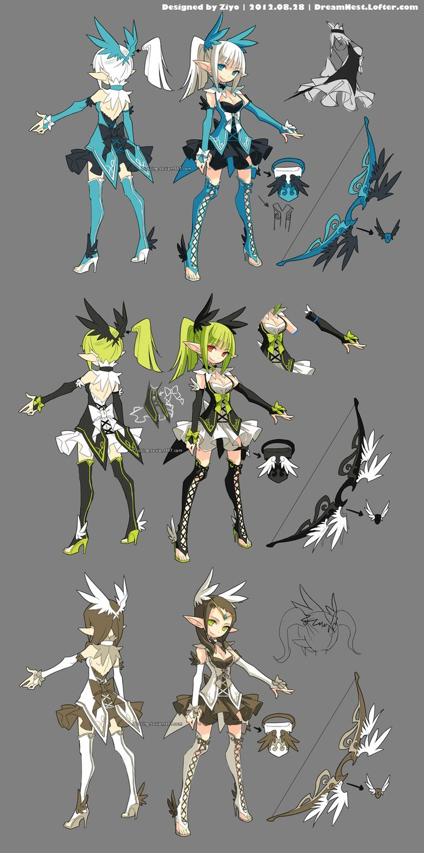 DragonNest Costume design-Archer by ZiyoLing.deviantart.com on @deviantART