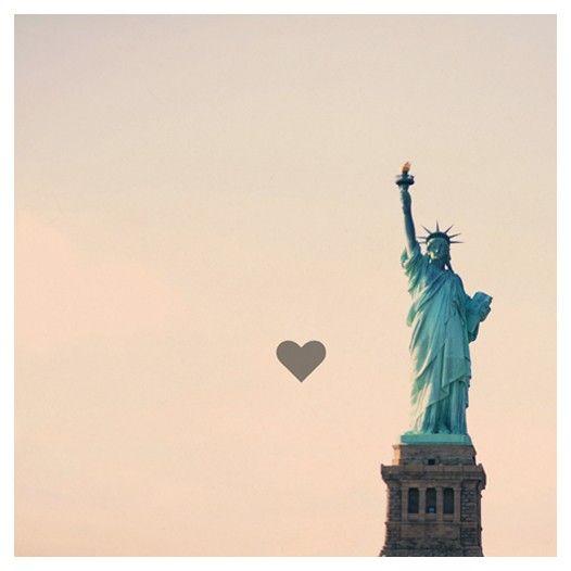 Valentine  New York  Statue of Liberty  America  by AliciaBock, $35.00