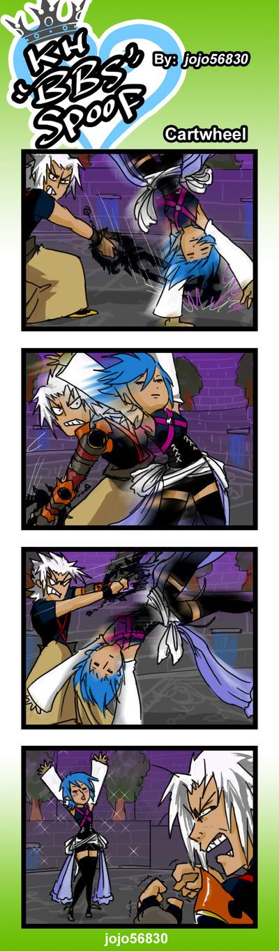 KH BBS Spoof: Cartwheel by jojo56830 -- this is how I survived this freaking battle