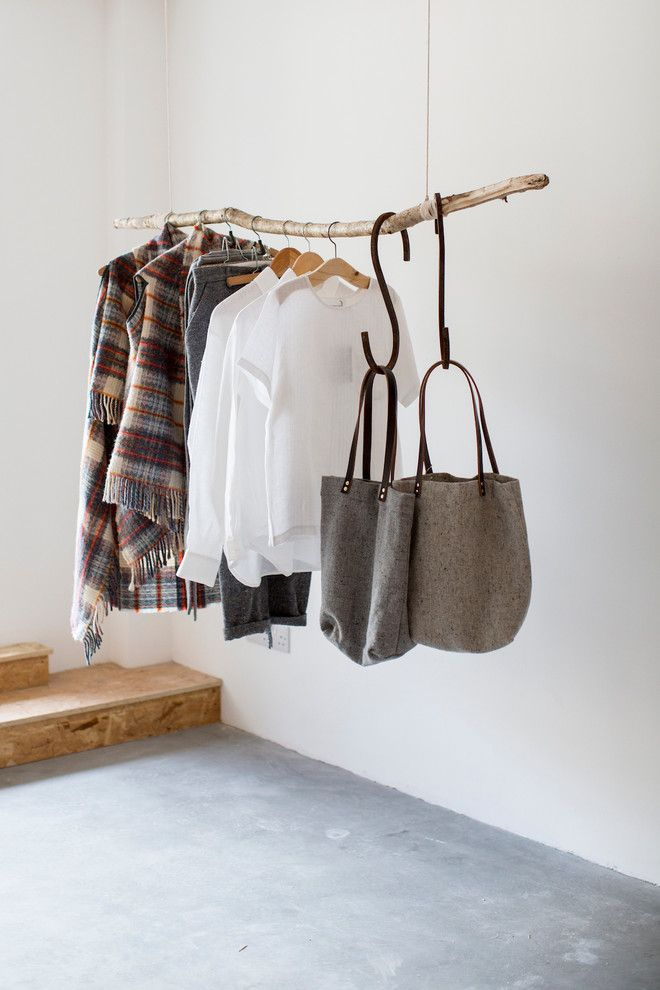 minimal art with hanging clothes closet sc andinavian and wooden clothes hangers