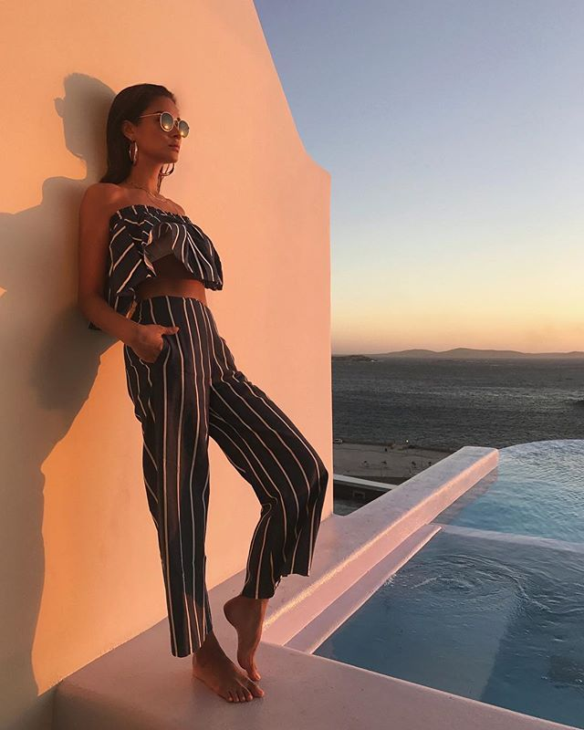 Instagram media by shaymitchell - Pinstripes and sunsets