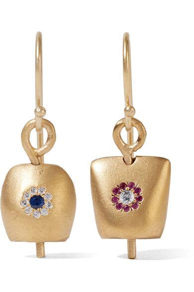 IAM by Ileana Makri | Belle medium gold-plated cubic zirconia earrings | NET-A-PORTER.COM