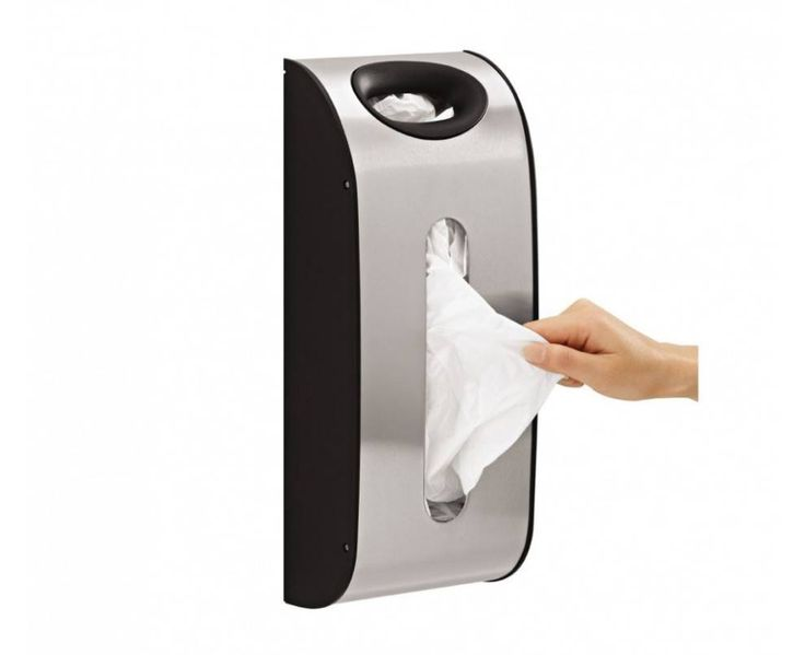 Refillable tissue/ plastic bags dispenser