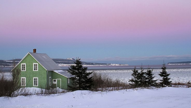 The Green house sunset on a cold winter day. Gaspesie, Canada  #7