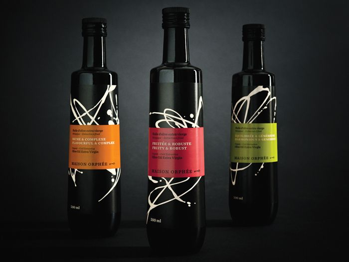 brand, Maison Orphée: Olive Oil, Maison Orphée, Olives Oil Packaging, Design Projects, Maison Orphe, Wine Labels, Packaging Design, Wine Bottle, Creative Packaging