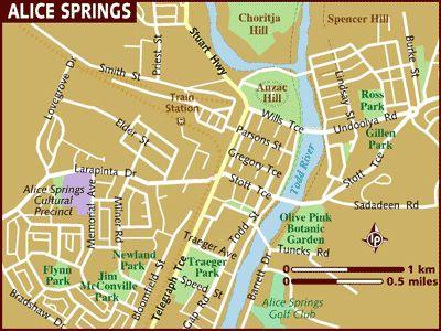 alice springs australia | Alice Springs Australia Tourist Map - Alice Springs Australia ...
