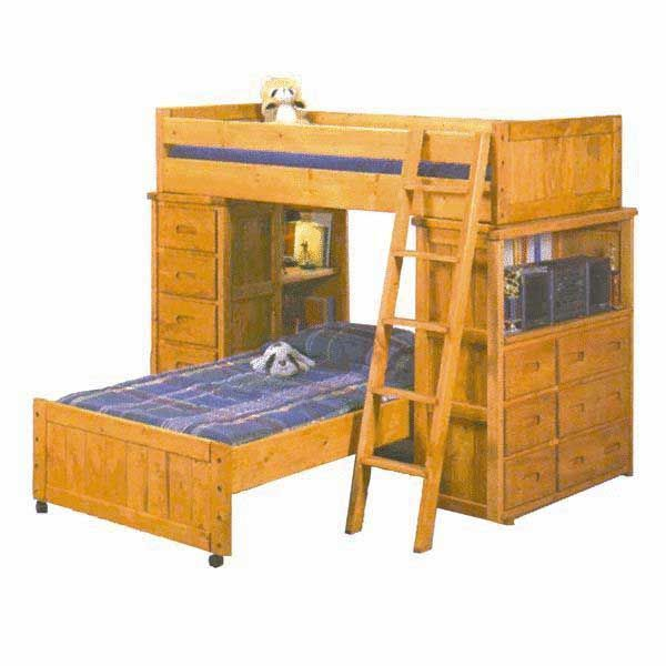 bunkhouse storage loft bunk bed by trendwood usa is now available at american furniture warehouse