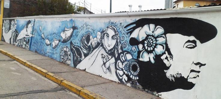 Irei com Doroty: Street Art no bairro Bellavista, em Santiago