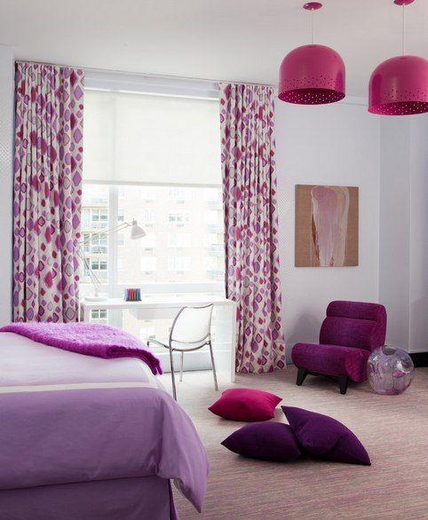 Фиолетовые #шторы в #интерьере #home #текстиль #дом #дизайн #ткань #интерьер #спальня #фиолетовый #идея #окно #домашнийтекстиль