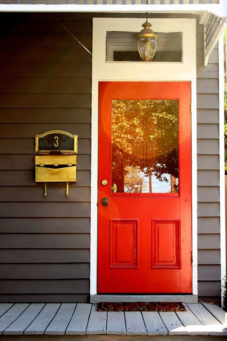 bright red front door color