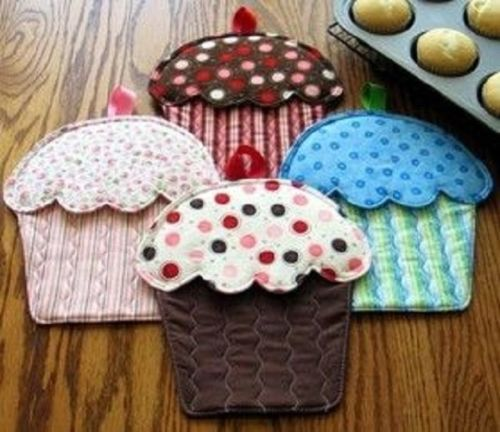 Susie Shore Hot Cakes Topflappen Cupcakes Muster