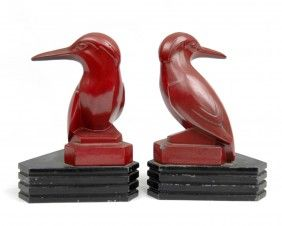 Strikingly Idea Bird Bookends. Pair Of Art Deco Bird Bookends  Spelter With Paint 247 best Arts Crafts and Style images on