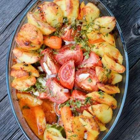 Padlizsán sült krumplival Recept képpel - Mindmegette.hu - Receptek