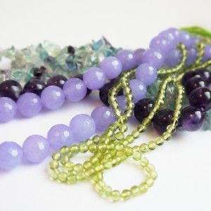 Playing with colours - gemstones in many colours for our next ideas| Perlotte Schmuck