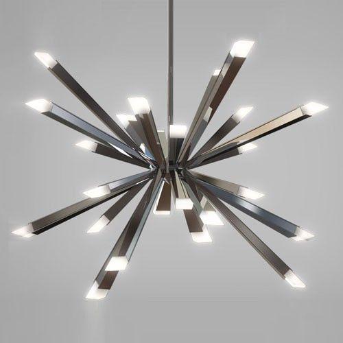 Starburst led chandelier