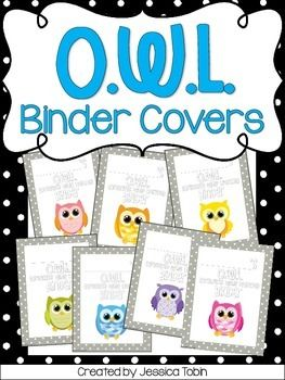 O.W.L. Binder Covers-In this pack, you will find 7 different colored owl O.W.L. (Organized While Learning) Binder Covers. Each has a space for you to write your students' names in. There are also 7 pages that say O.W.L. Folder if you want a folder option.* This is only the binder cover!