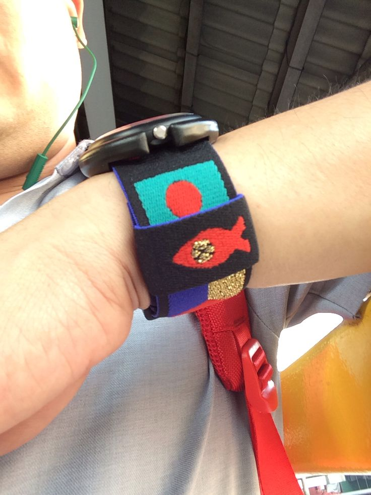 My new strap for my pop swatch