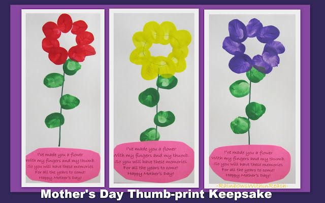 Mother's Day handprint rhyme, poem