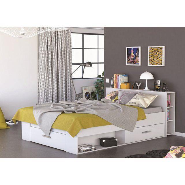 25 best ideas about lit 140x190 avec rangement on pinterest lit rangement - Lit mezzanine 140x190 bois ...