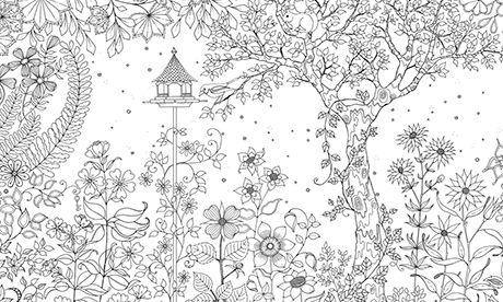 'Secret Garden' printable coloring sheets via The Guardian.