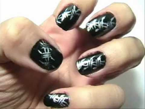 111 best nail art video tutorials images on pinterest link barb wire nail youtube black and silver nails halloween nail design prinsesfo Gallery