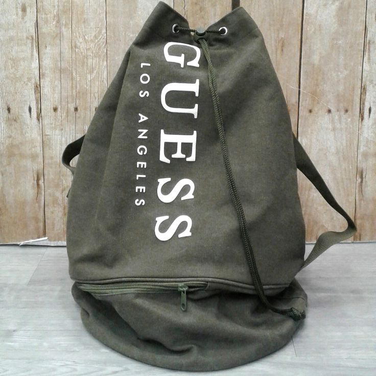 """""""As soon as I saw you, I knew an adventure was going to happen"""" – Winne the Pooh. #PlatosClosetCambridge #everydayisanadventure #gentlyused #backpacking #quotestoliveby // #Guess backpack, $20 // 