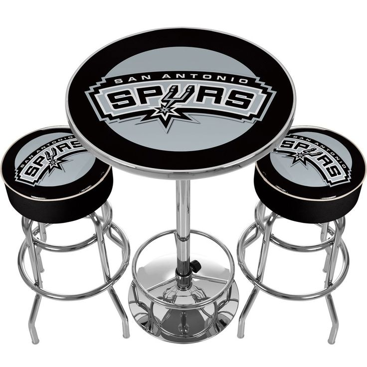 Details About San Antonio Spurs Bar Stools And Table Set
