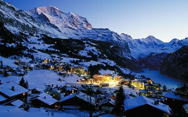 Ski Wengen: great scenery, good for families, & cinema shows films in English!