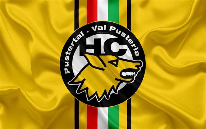 تحميل خلفيات HC فال بوستيريا الذئاب, 4k, الإيطالي نادي هوكي, شعار, جبال الألب دوري الهوكي, دوري الدرجة الاولى الايطالي, برونيكو, إيطاليا, الهوكي, علم إيطاليا