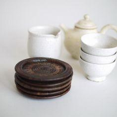 タイの民藝 ヤンリパオ組茶托 5客組 | タイ工藝ムラカ