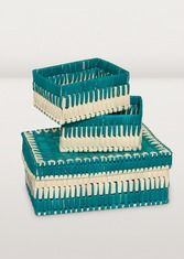 Turquoise Nested Baskets