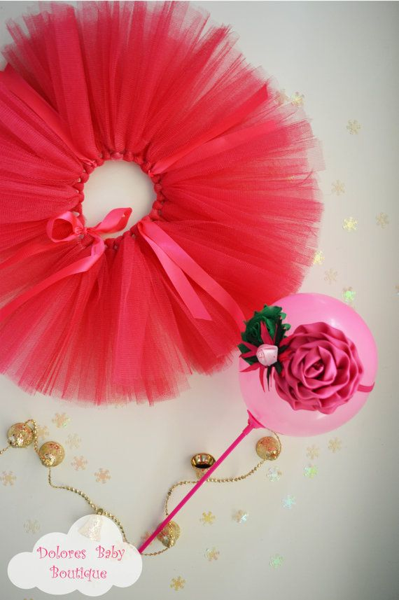 Baby Pink Tutu Baby Headband Christmas baby by DoloresBabyBoutique
