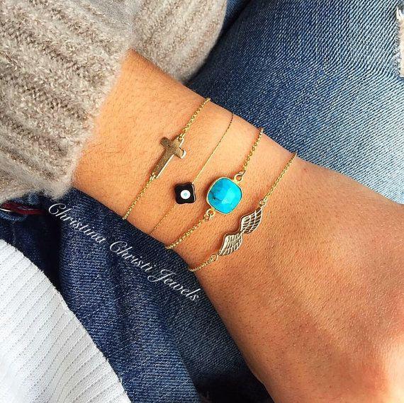 Women's Cross Bracelet Gold 24k Bracelets by ChristinaChristiJls