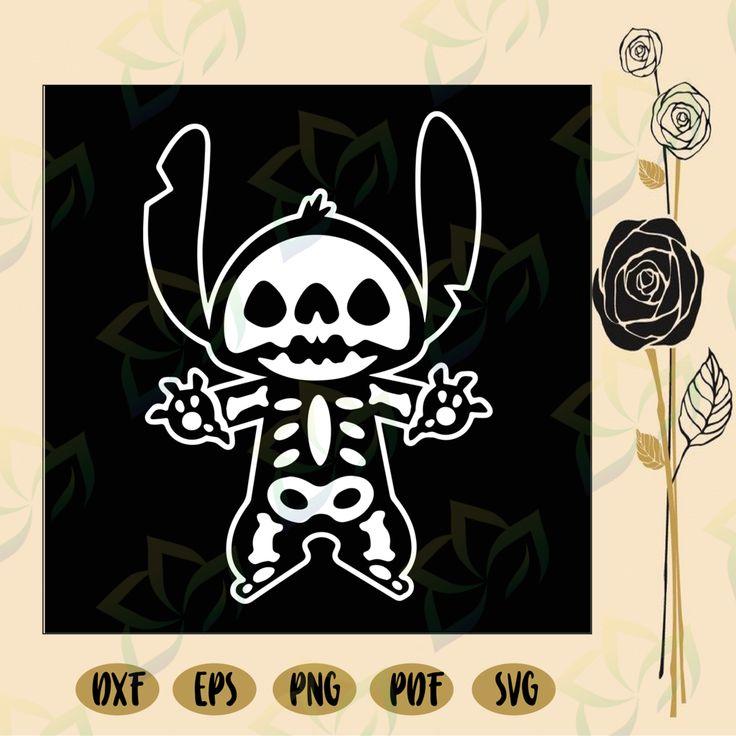 Stitch halloween skeleton, stitch svg, disney stitch