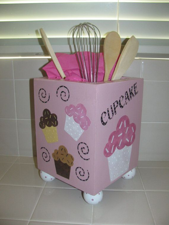Hey, I found this really awesome Etsy listing at https://www.etsy.com/listing/94702544/kitchen-utensil-holder-cupcake