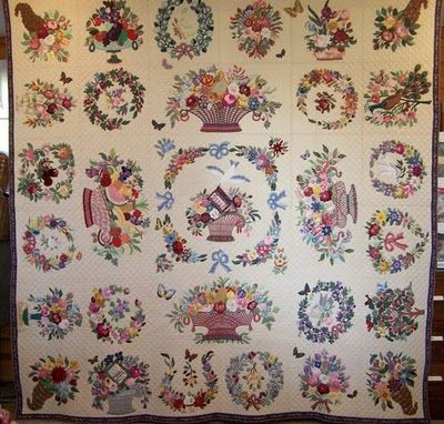 Traditional Hand Quilting Patterns : 239 best Baltimore Quilts images on Pinterest