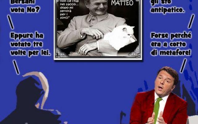 Bersani alleva gatti per Renzi Le confessioni del signor Matteo. - Io dico solo che Pier Luigi Bersani ha votato Sì tre volte a questa riforma. Questa riforma non l'ho scritta io sul mio pc di Rignano sull'Arno, è stata cambiata  #referendumcostituzionale #pd #renzi
