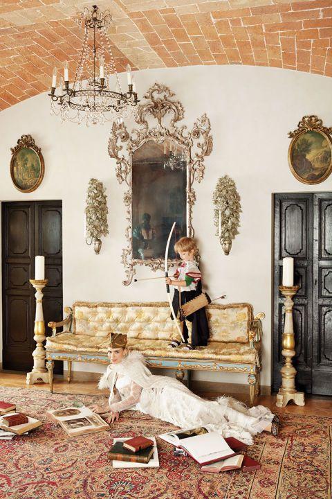 Gown, Alberta Ferretti. 310-652-9000.