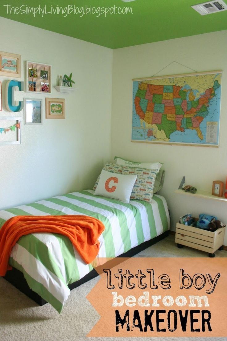 81 best kid rooms and nurseries images on pinterest kid rooms some very cool kid room deocr ideas love the painted ceiling simply living little boy bedroom makeover