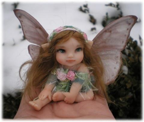 Polymer clay baby fairy