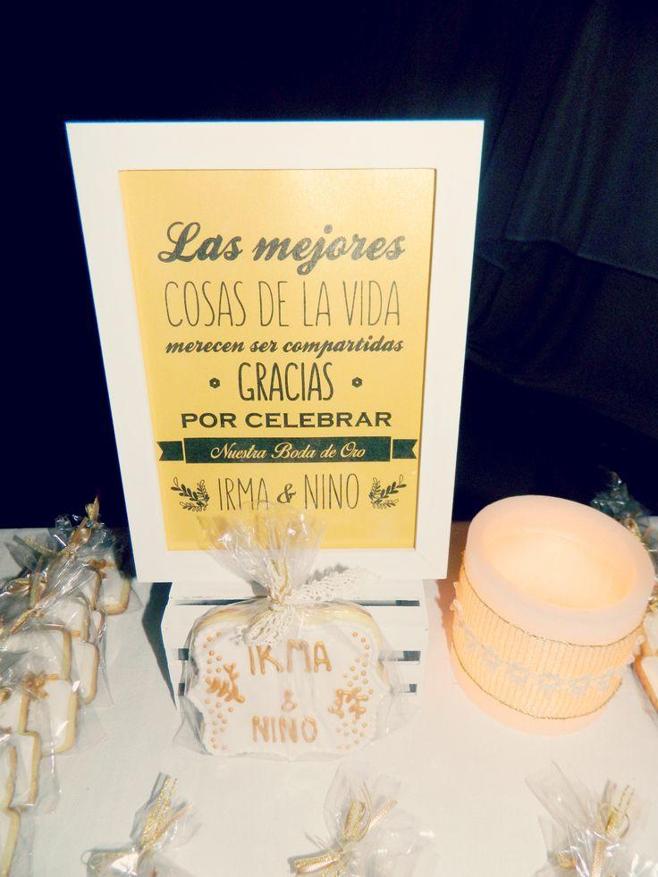 Decoracion Bodas De Oro ~ Decoracion mesa souvenir Boda de Oro