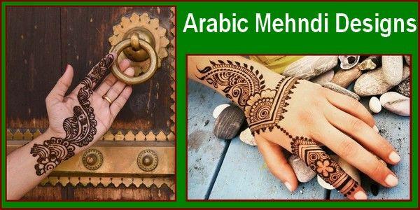 Simple Arabic Mehndi Designs 2018 for Weddings & Parties